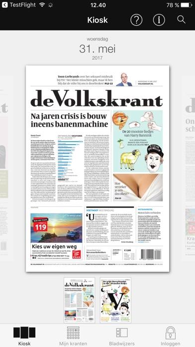 De Volkskrant Digitale Krant review screenshots