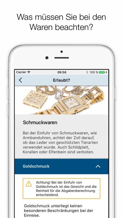 Zoll und Reise Screenshot