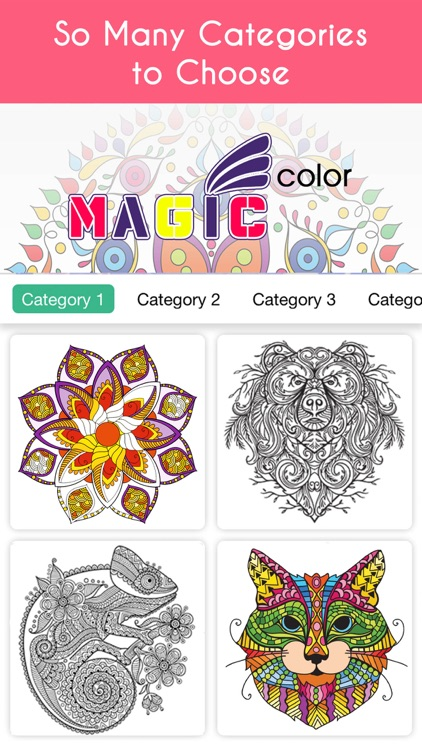 Magic Color Coloring Book For Anti Stress