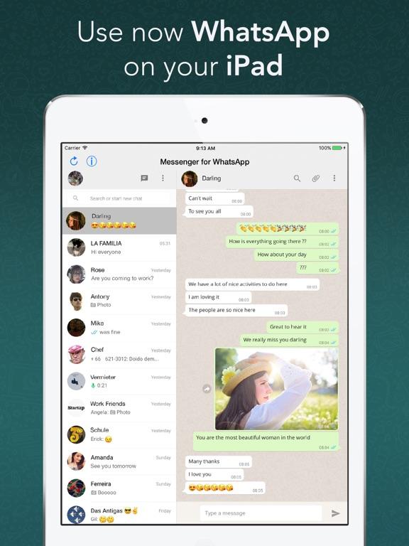 Screenshot #1 for Messenger for WhatsApp - App for iPad