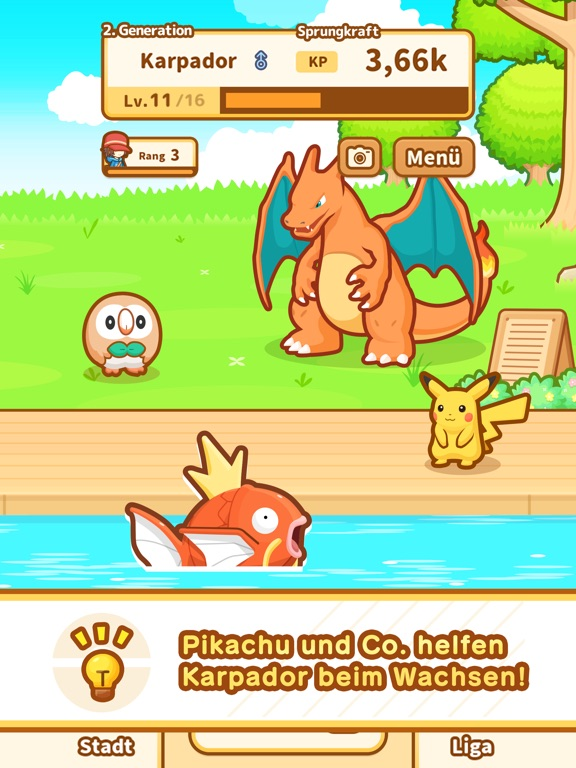 Pokémon: Karpador Jump Screenshot