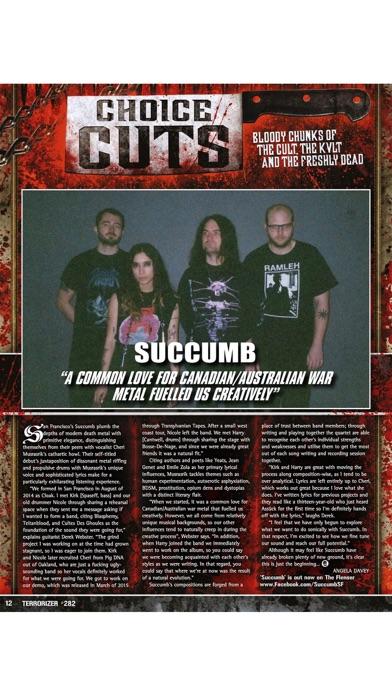Terrorizer Magazine review screenshots