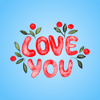 Sticker List - Good Night My Love - Watercolor Romantic Greetings artwork