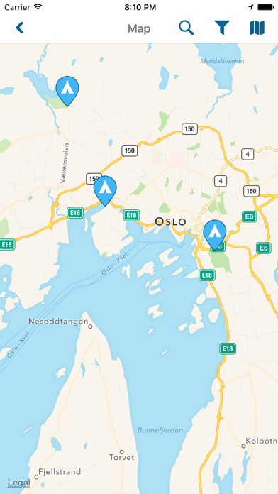 NorCamp Camping In Norway On The App Store - Norway map app