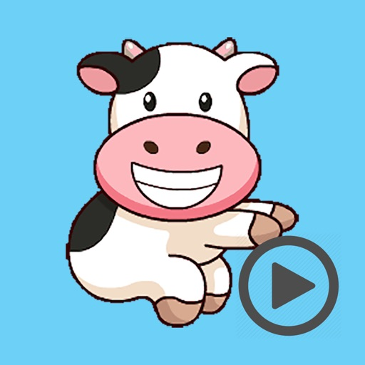 Milk Cow Party Time Animated iOS App