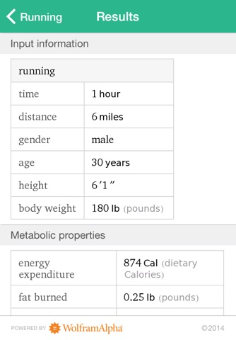 Wolfram Personal Fitness Assistant App screenshot 3