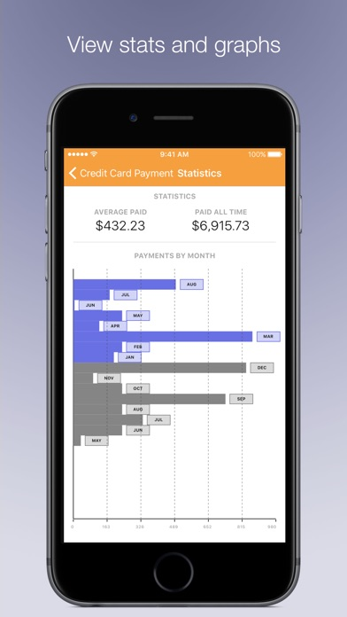 Chronicle - Bill Management Screenshots