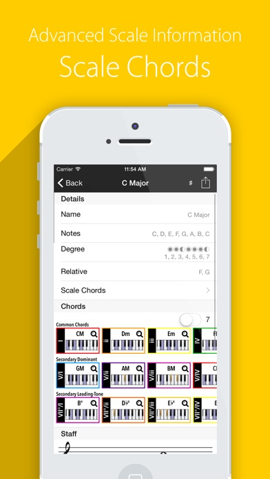 Chords, Scales, Progressions - Piano Companion PRO Screenshots