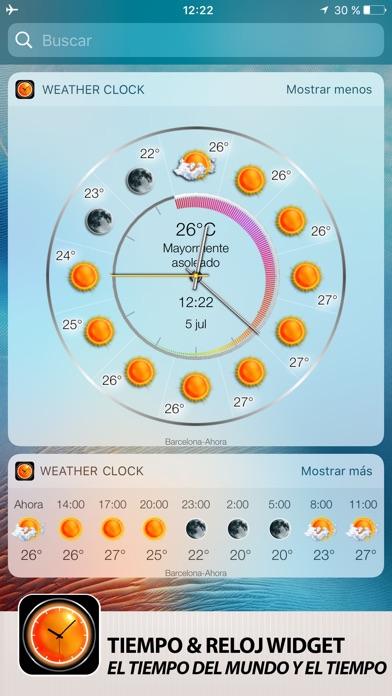 download Tiempo & Reloj Widget apps 2
