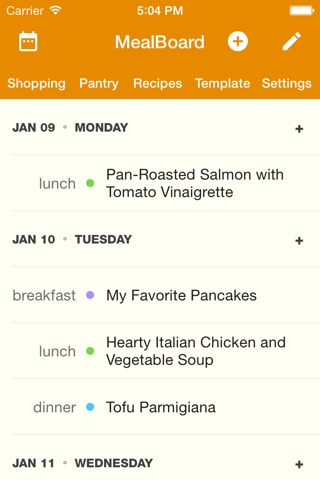 MealBoard screenshot 1