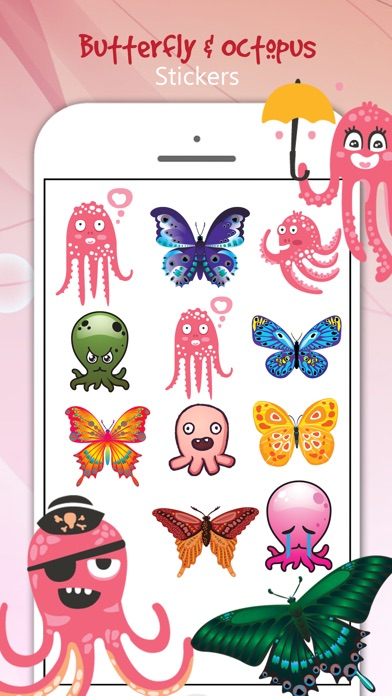 download Butterfly & Octopus Stickers apps 2