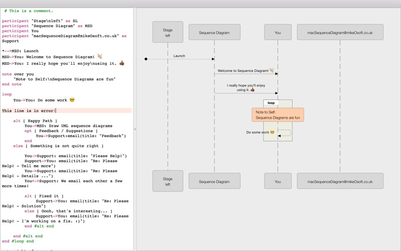 screenshots mac osx - Sequence Diagram Mac