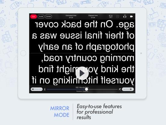 Prof. Hornet - Pro Autocue App Screenshots