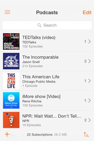 Instacast Core screenshot 1