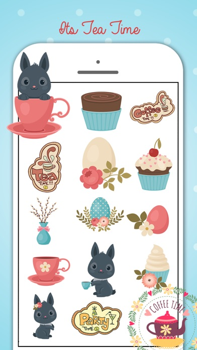Tea Party Stickers Pack screenshot 2