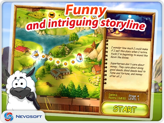 Supercow: funny farm arcade platformer HD Screenshots