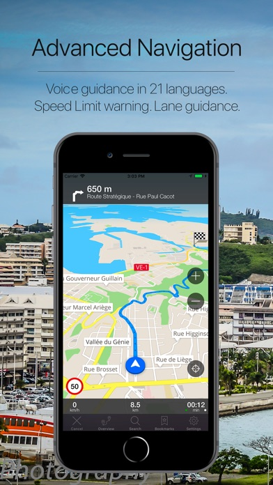 Screenshot for New Caledonia Navigation in Indonesia App Store