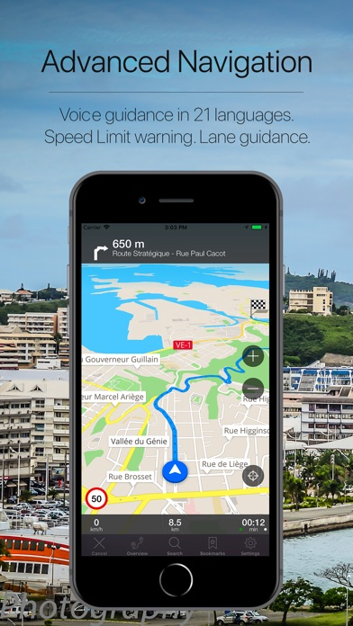 Screenshot for New Caledonia Navigation in Italy App Store
