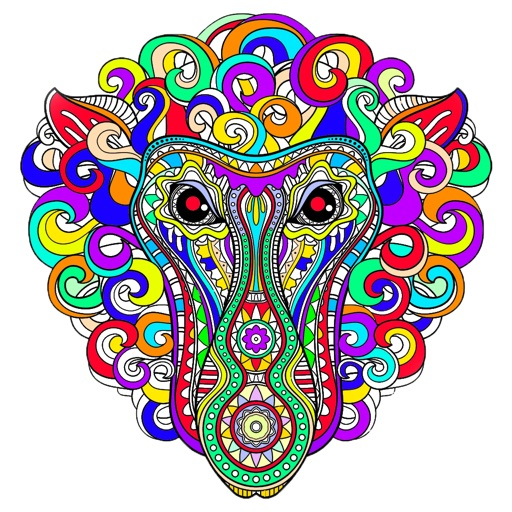 Coloring Therapy For Adults iOS App