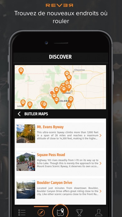 REVER: Itinéraires moto et GPSCapture d'écran de 1