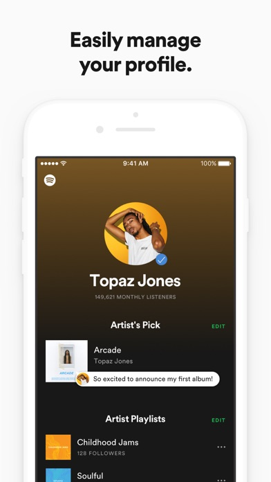 download Spotify for Artists appstore review