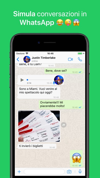 Screenshot of WhatsFake - Creare Falsi Chats1