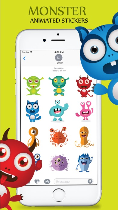 Animated Cute Monsters Stickers iMessage screenshot 4