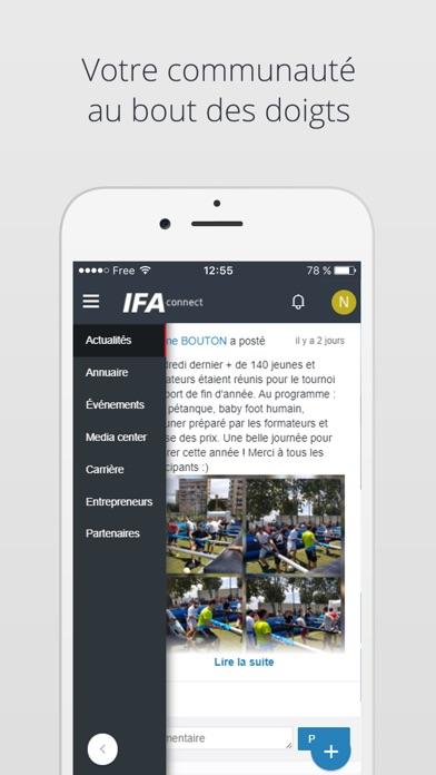 IFA connect screenshot