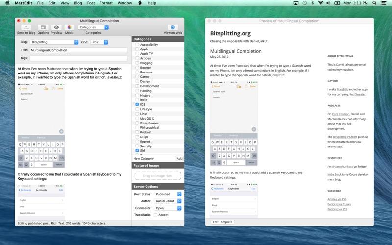 MarsEdit Mac 破解版 优秀强大的博客编写客户端-麦氪派