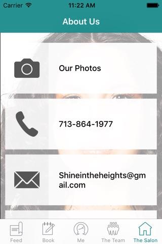 Shine in the Heights Salon screenshot 3