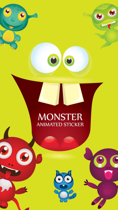 Animated Cute Monsters Stickers iMessage screenshot 1
