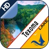 Lake Texoma gps offline nautical chart for boaters