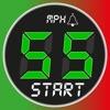 Speedometer 55 Start. Speed Limit Alert. GPS Box.