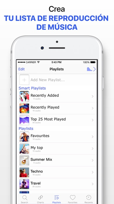 Screenshot for Reproductor música sin limites in Spain App Store