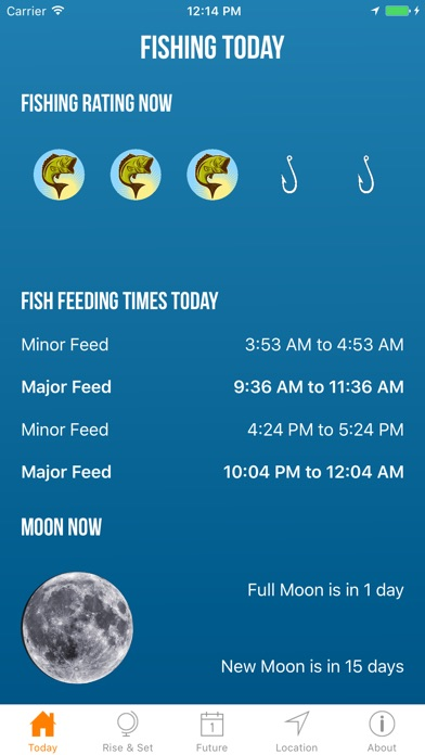 Solunar best fishing times app insight download for Best fishing game app