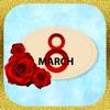 Стикеры на 8 марта для женщин
