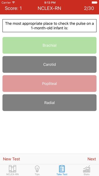NCLEX-RN TestsScreenshot of 2