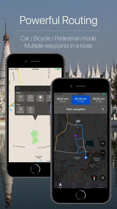 Screenshot for Myanmar Offline Navigation in Venezuela App Store