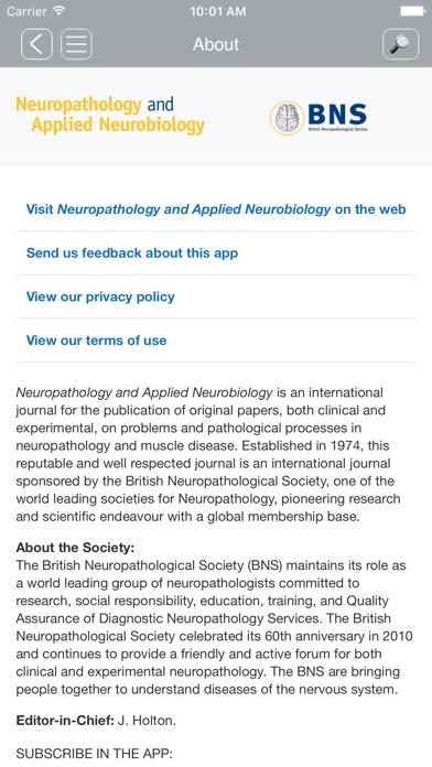 Screenshot of NAN Journal App