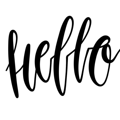Hello Calligraphy! Stickers for iMessage