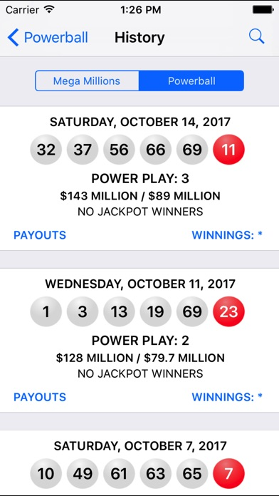 Mega Millions + Powerball screenshot 3