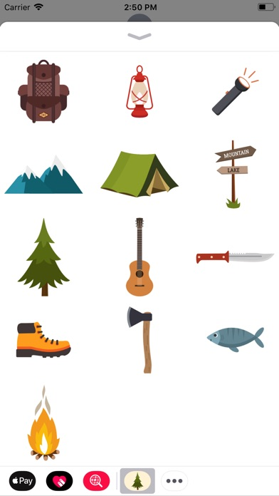 Screenshot for Camping Stickers in Denmark App Store