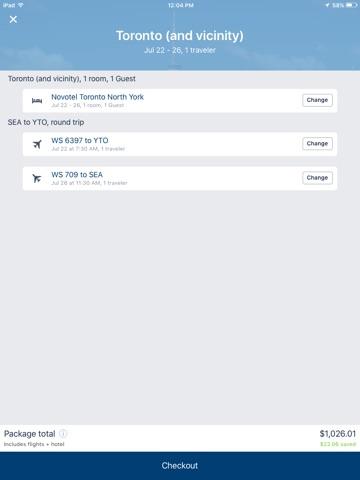 Travelocity Flight, Hotel, Car screenshot 2