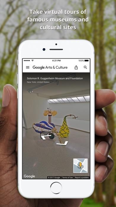 Screenshot of Google Arts & Culture App