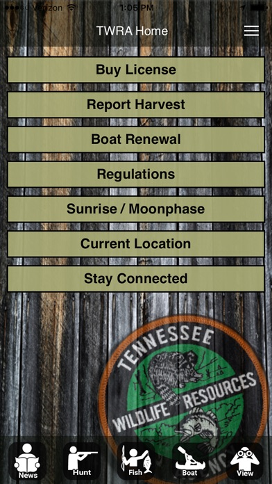 Twra on the go on the app store for Tn fishing regulations 2017