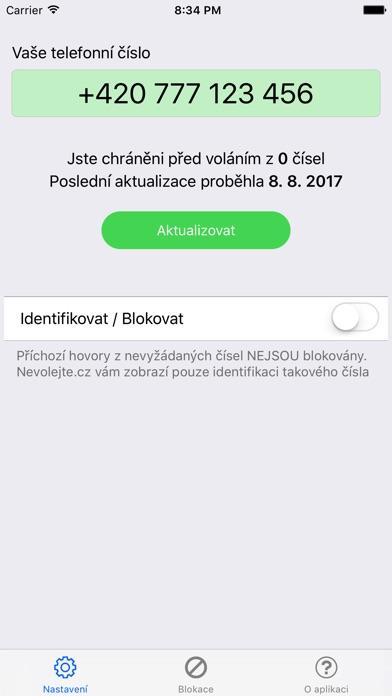 Nevolejte.cz Screenshot