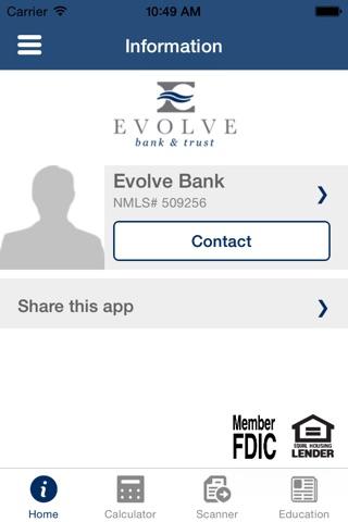 Evolve Bank & Trust Mortgage screenshot 1