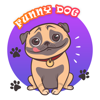 QUY LE - Funny Dog Stickers - Cute Pet artwork