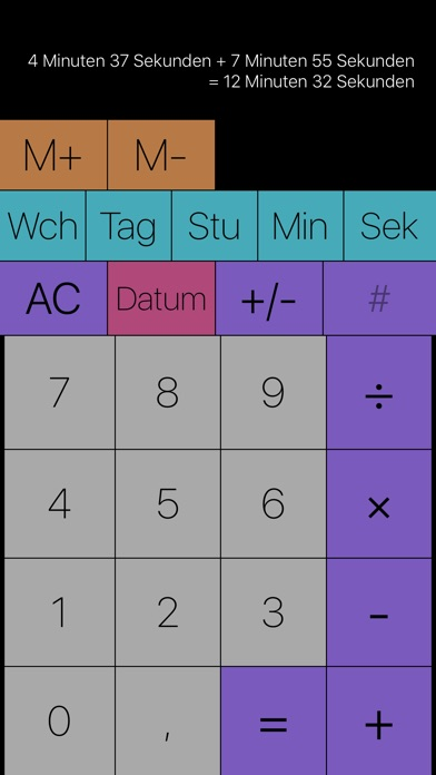 Time Calc - dauern und datieru Screenshot