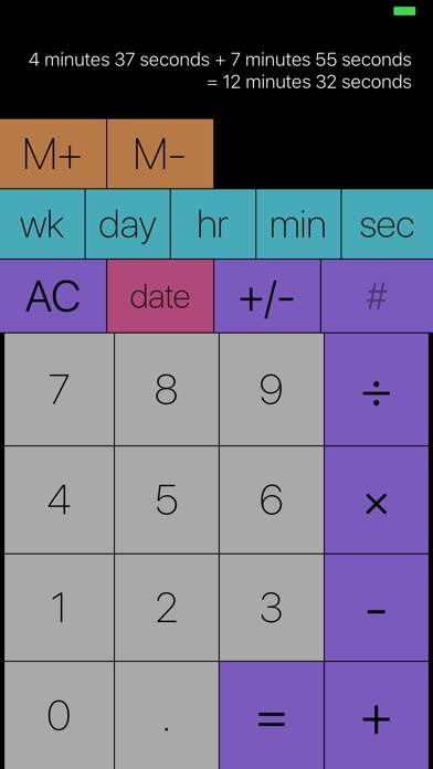 Time Calc: durations and dates Screenshots